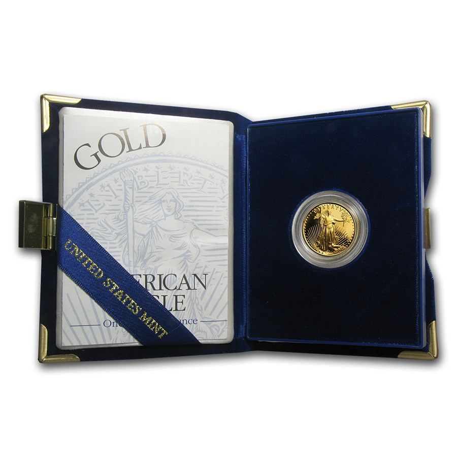 1995-W 1/4 oz Proof American Gold Eagle (w/Box & COA)