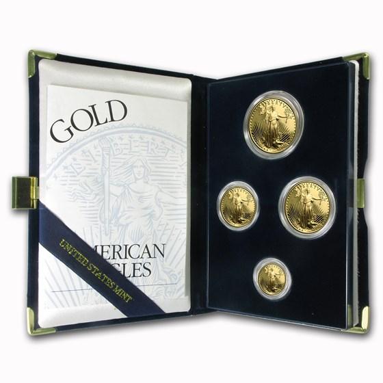 1995-W 4-Coin Proof American Gold Eagle Set (w/Box & COA)