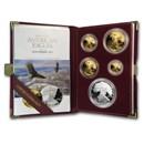 1995-W 5-Coin Proof American Eagle Set (10th Anniv, Box & COA)