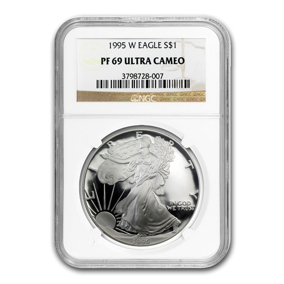 1995-W Proof Silver American Eagle PF-69 NGC