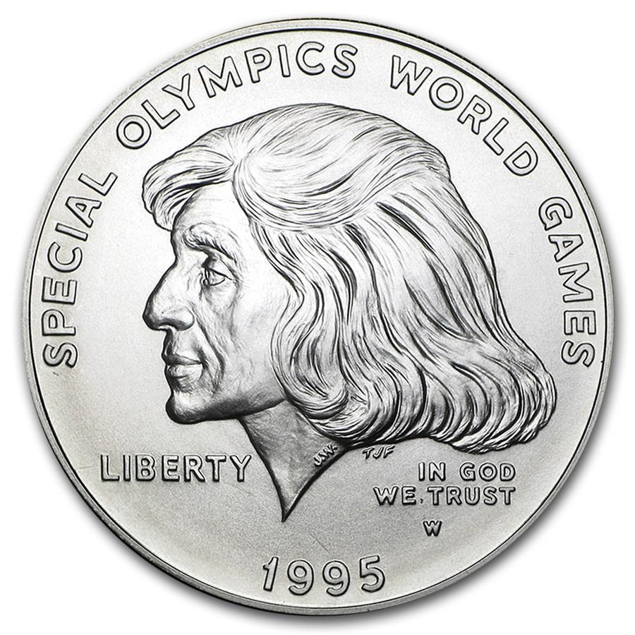 1995-W Special Olympics $1 Silver Commem BU (w/Box & COA)