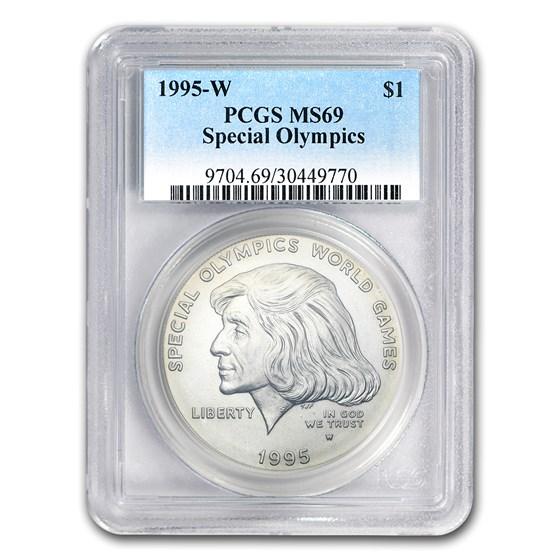 1995-W Special Olympics $1 Silver Commem MS-69 PCGS