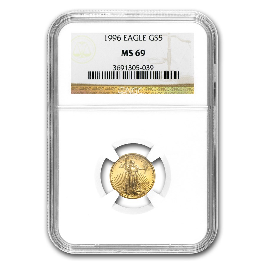 1996 1/10 oz American Gold Eagle MS-69 NGC