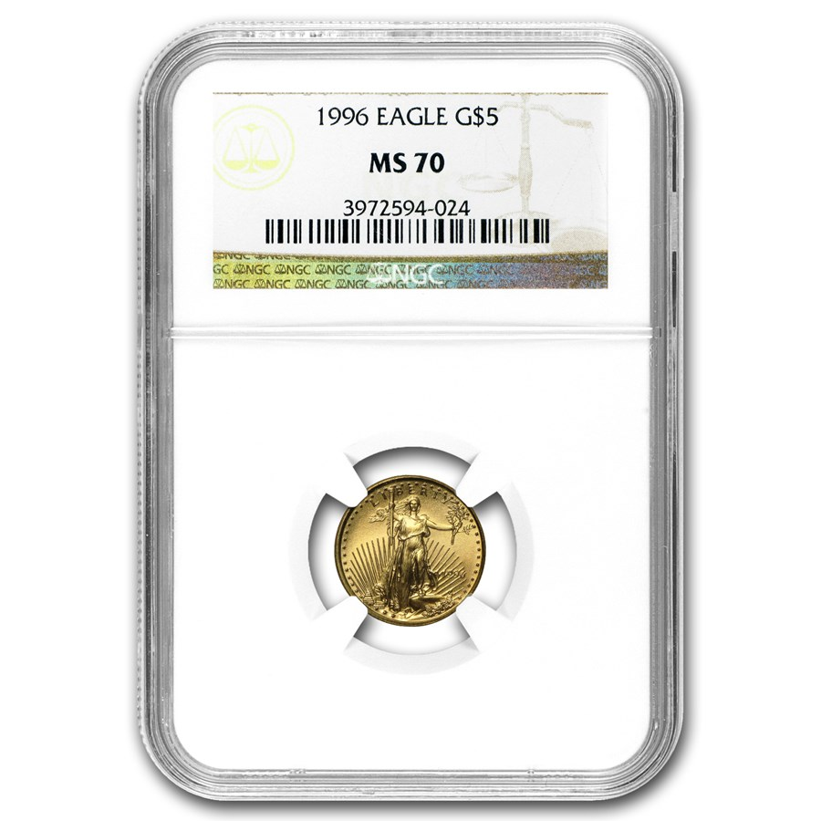 1996 1/10 oz American Gold Eagle MS-70 NGC
