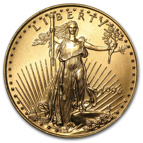 1996 1/2 oz American Gold Eagle BU