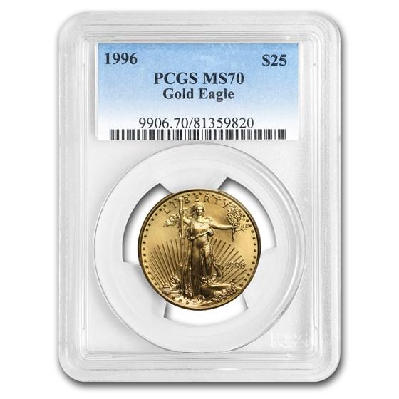 1996 1/2 oz American Gold Eagle MS-70 PCGS