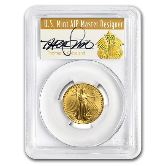 1996 1/4 oz Gold American Eagle MS-70 PCGS (Art Deco Label)