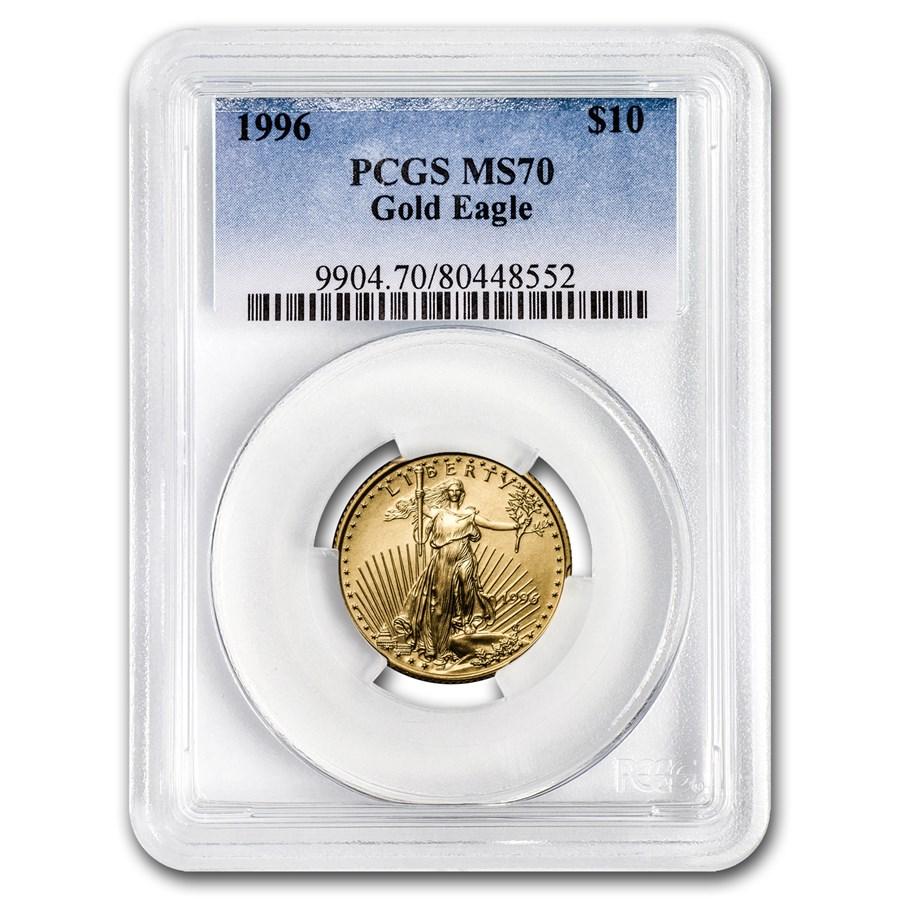 1996 1/4 oz Gold American Eagle MS-70 PCGS