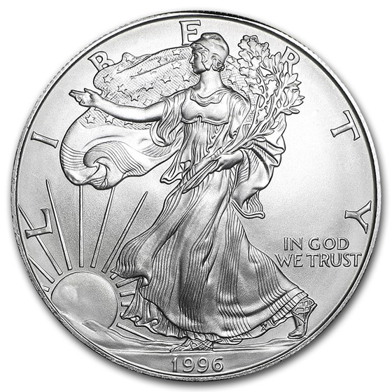 1996 1 oz American Silver Eagle BU