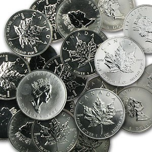 1996 1 oz Silver Canadian Maple Leaf (Light Spots)