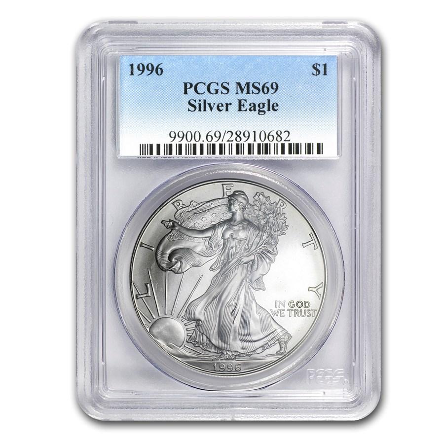 1996 American Silver Eagle MS-69 PCGS