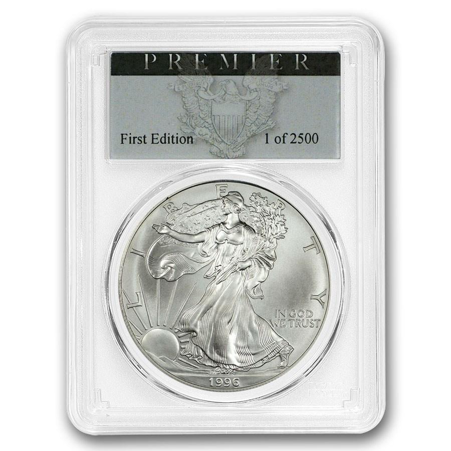 1996 American Silver Eagle MS-70 PCGS (Premier Label)