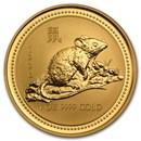 1996 Australia 1 oz Gold Lunar Rat (Series I)