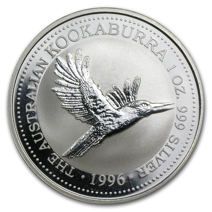1996 Australia 1 oz Silver Kookaburra BU