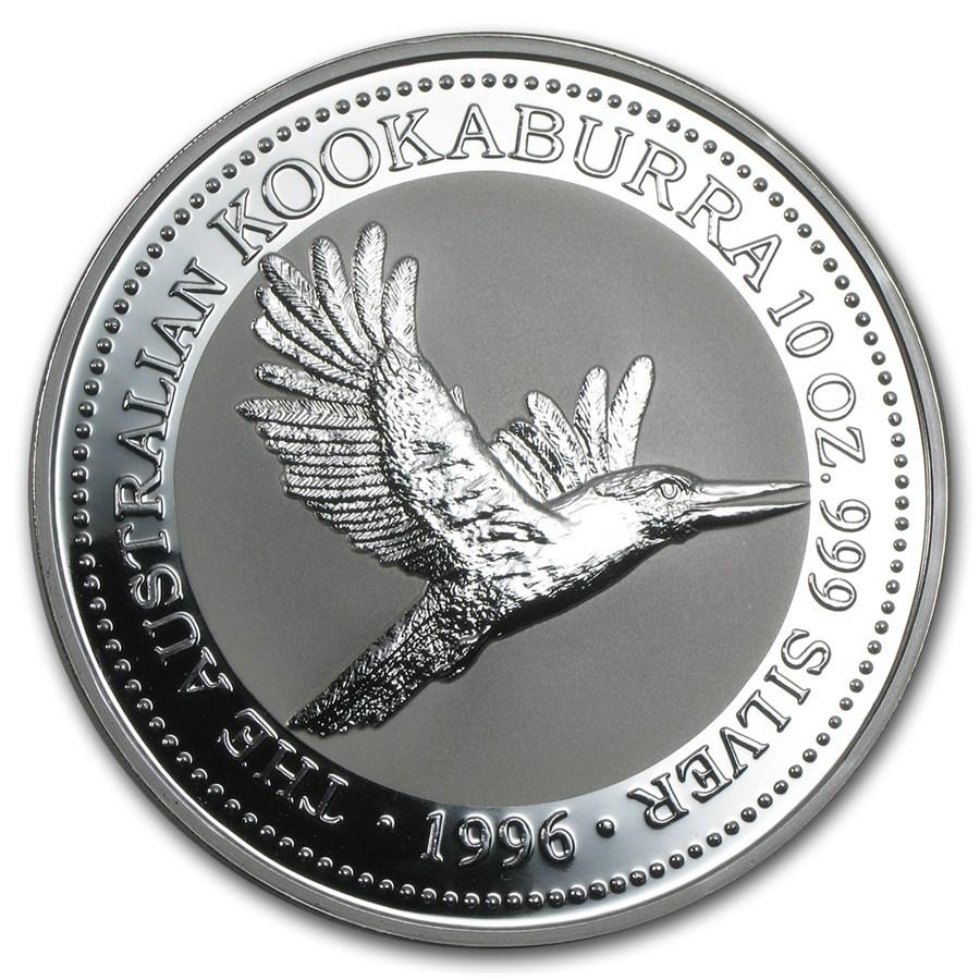 1996 Australia 10 oz Silver Kookaburra BU