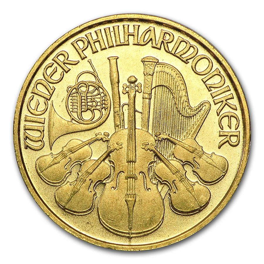 1996 Austria 1/10 oz Gold Philharmonic BU