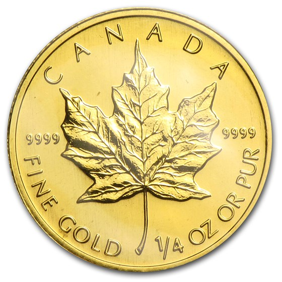 1996 Canada 1/4 oz Gold Maple Leaf BU