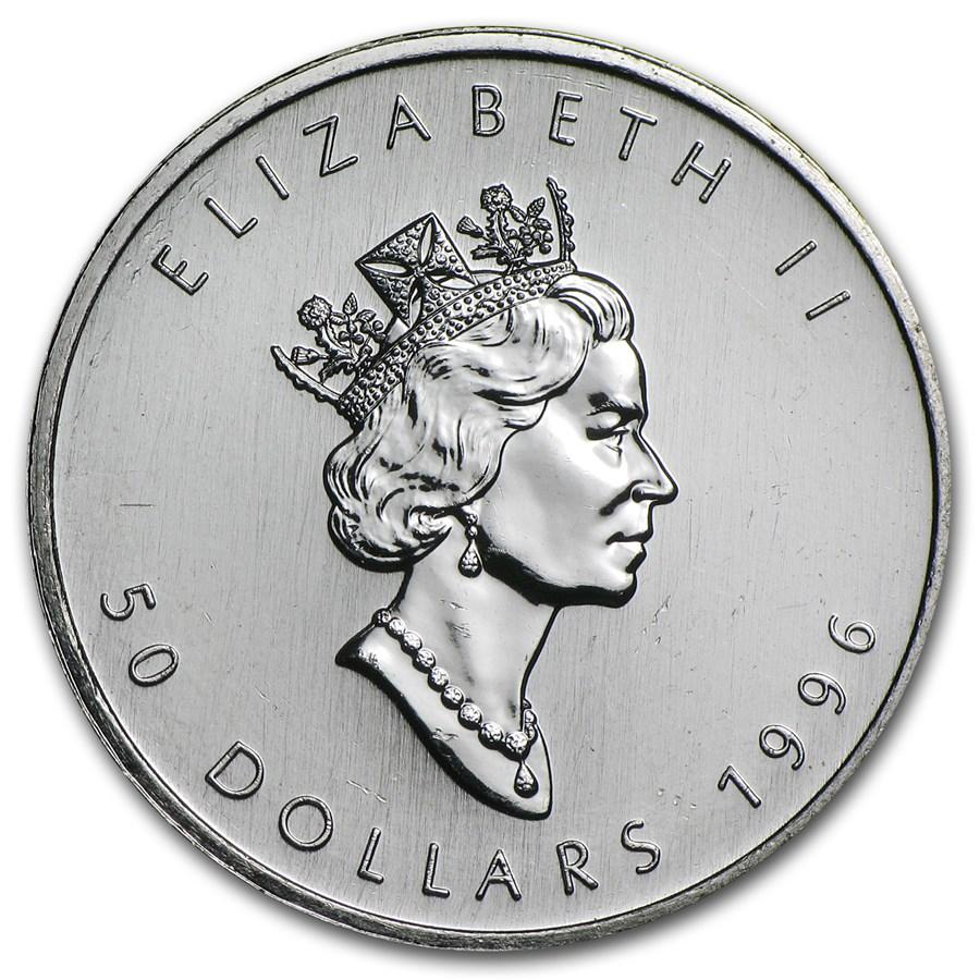 1996 Canada 1 oz Platinum Maple Leaf BU