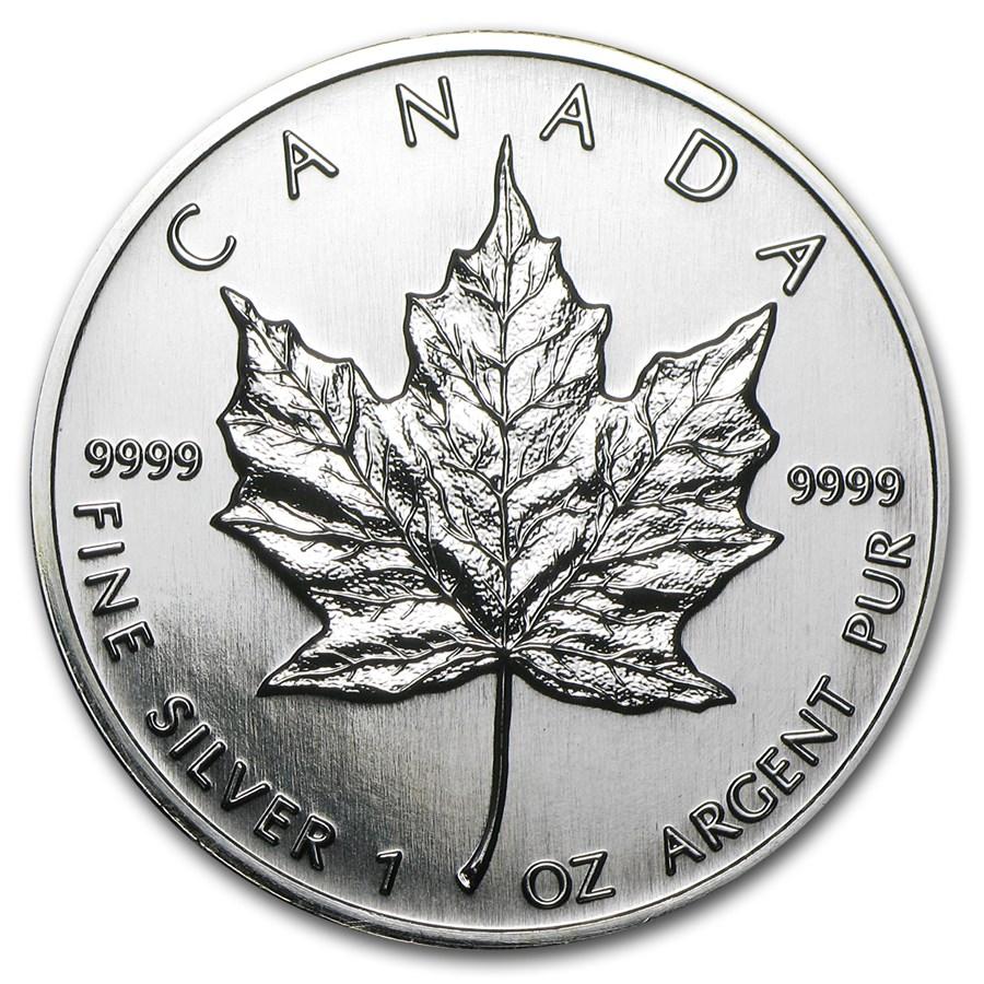 1996 Canada 1 oz Silver Maple Leaf BU