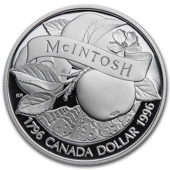 1996 Canada Silver Dollar Proof (McIntosh Apple w/OGP)