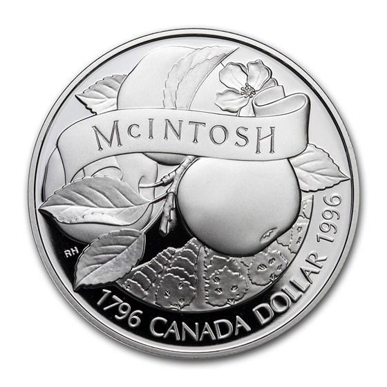 1996 Canada Silver Dollar Proof (McIntosh Apple)