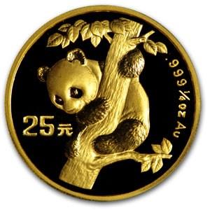 1996 China 1/4 oz Gold Panda BU (In Capsule)