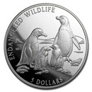 1996 Cook Islands Silver $5 Endangered Wildlife Proof (Random)