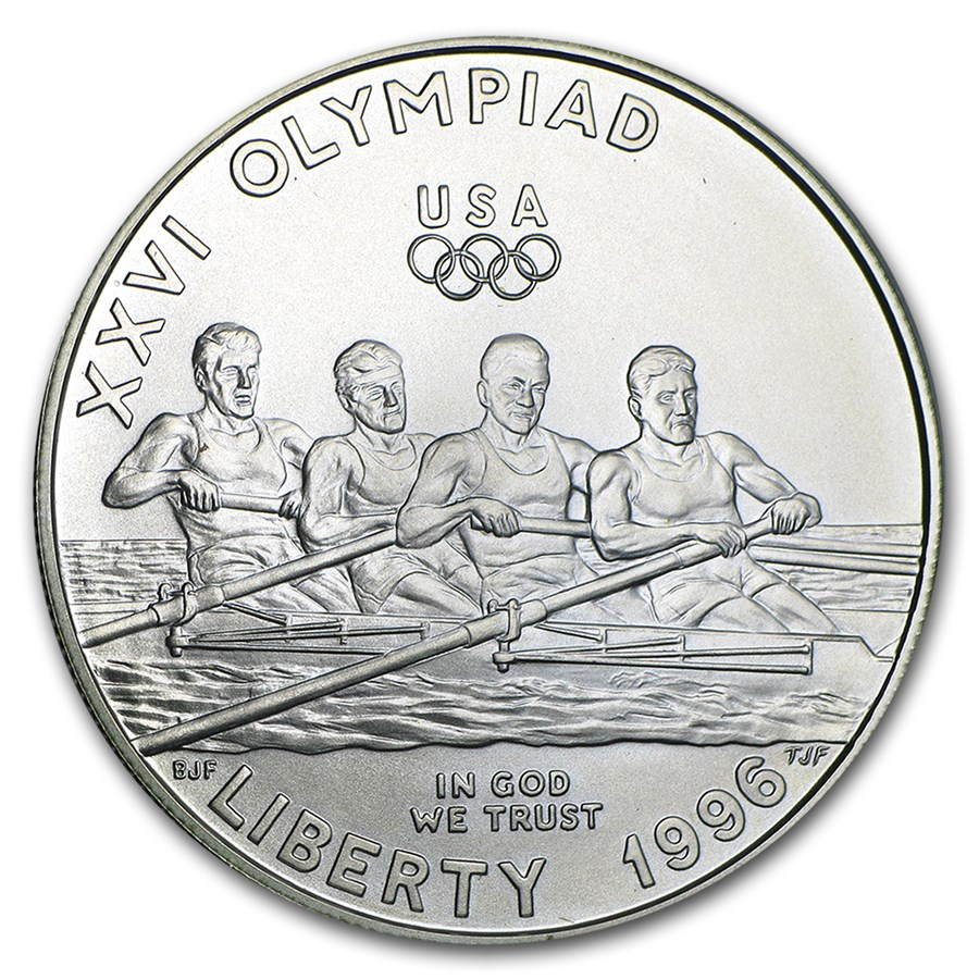 1996-D Olympic Rowing $1 Silver Commem BU (Capsule Only)