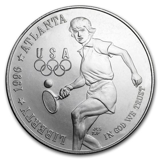 1996-D Olympic Tennis $1 Silver Commem BU (Capsule Only)