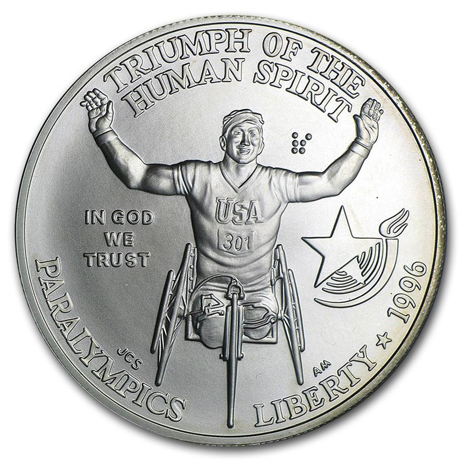 1996-D Paralympic $1 Silver Commem BU (Capsule Only)