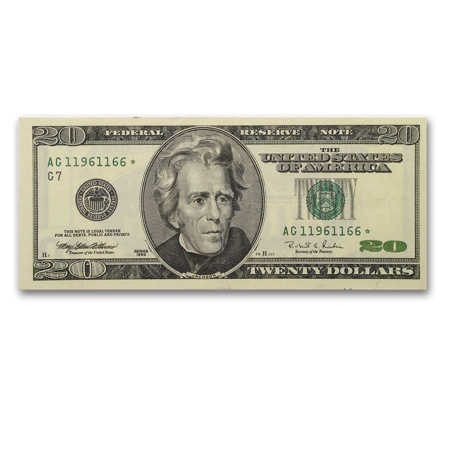 1996* (G-Chicago) $20 FRN CU (Star Note)