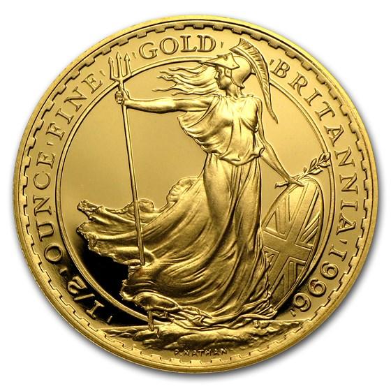 1996 Great Britain 1/2 oz Proof Gold Britannia