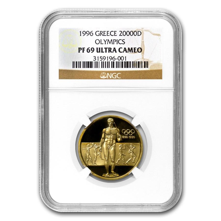 1996 Greece Gold 20,000 Drachmes Olympics PF-69 NGC