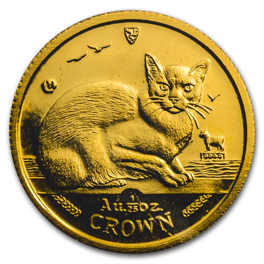 1996 Isle of Man 1/25 oz Gold Burmese Cat BU