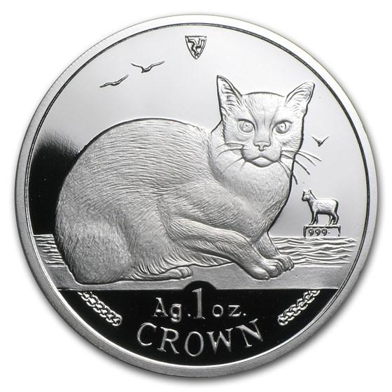 1996 Isle of Man 1 oz Silver Burmese Cat Proof