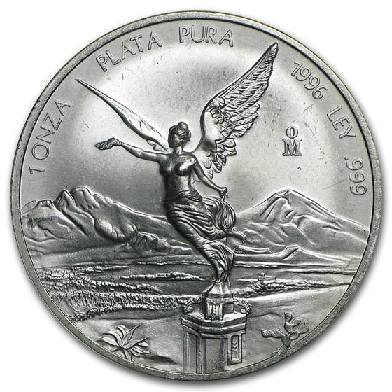 1996 Mexico 1 oz Silver Libertad (Abrasions)