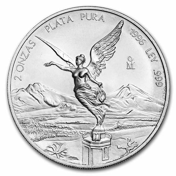 1996 Mexico 2 oz Silver Libertad BU