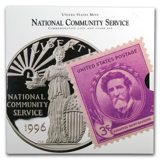 1996 National Community Service Coin & Stamp Set