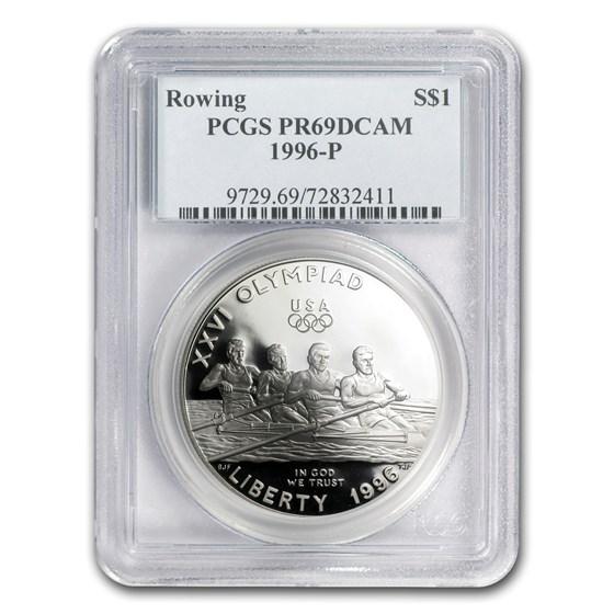 1996-P Olympic Rowing $1 Silver Commem PR-69 PCGS