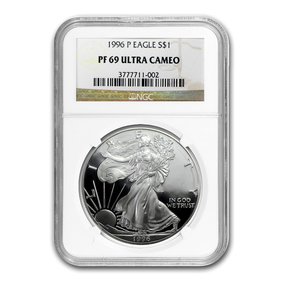 1996-P Proof American Silver Eagle PF-69 NGC