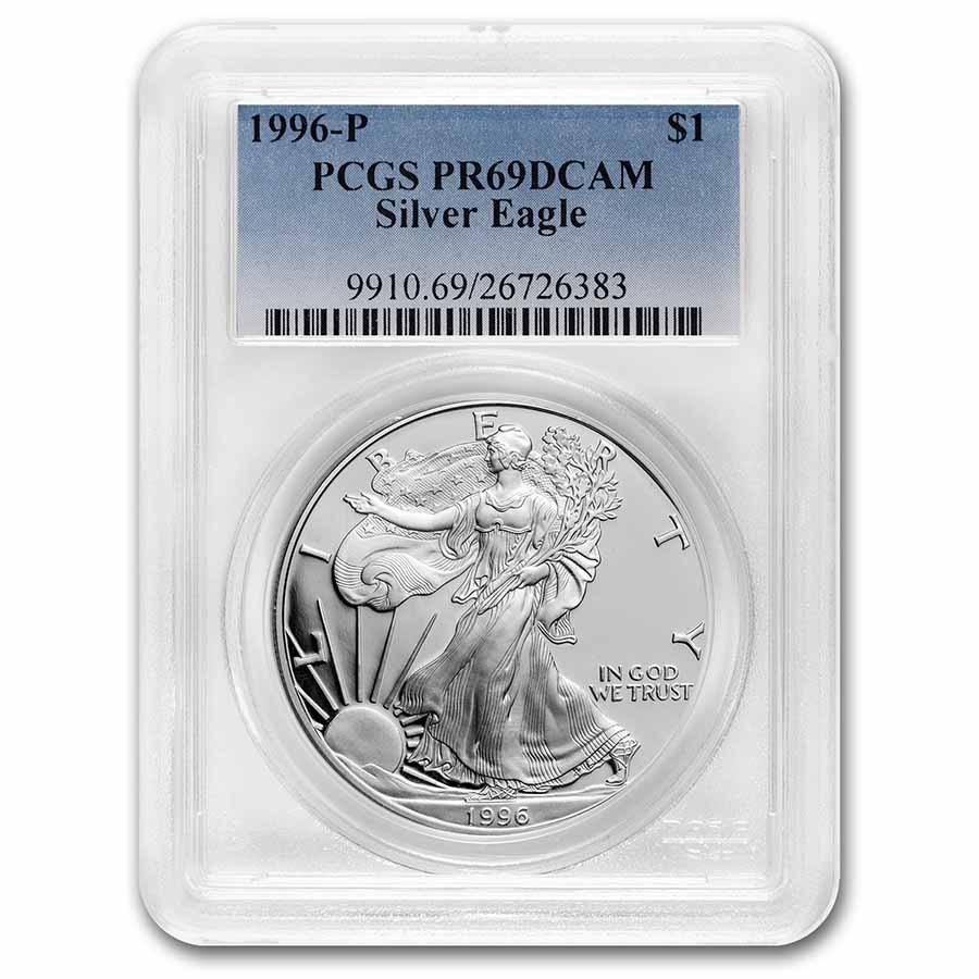 1996-P Proof American Silver Eagle PR-69 PCGS