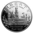 1996-P Smithsonian $1 Silver Commem Proof (w/Box & COA)