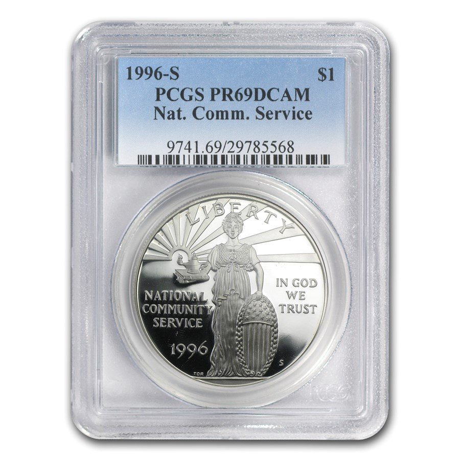 1996-S Community Service $1 Silver Commem PR-69 PCGS