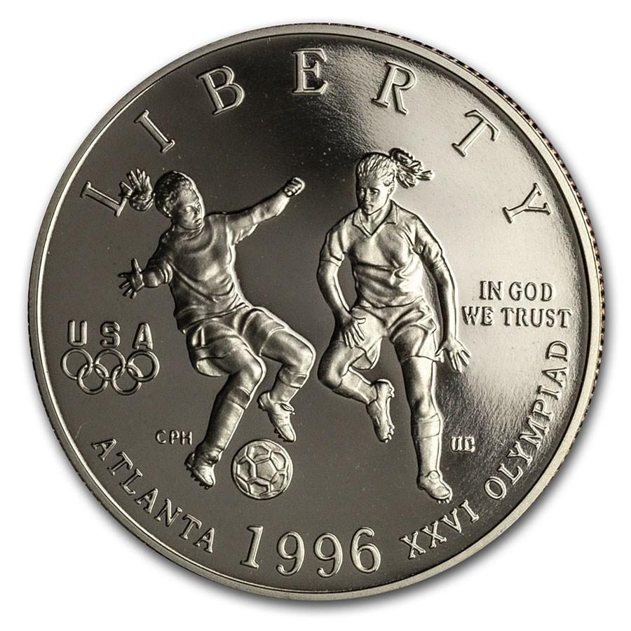 1996-S Olympics 1/2 Dollar Clad Commem Soccer Prf (Capsule Only)