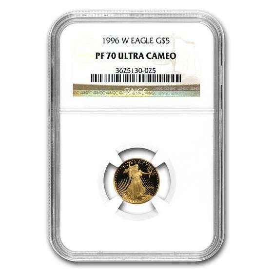 1996-W 1/10 oz Proof American Gold Eagle PF-70 NGC