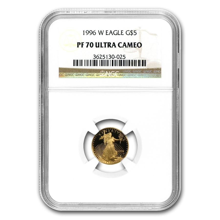 1996-W 1/10 oz Proof American Gold Eagle PF-70 UCAM NGC