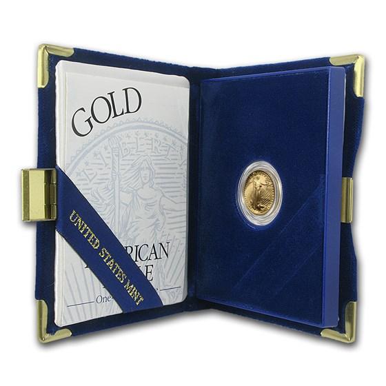 1996-W 1/10 oz Proof American Gold Eagle (w/Box & COA)