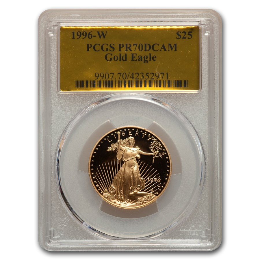 1996-W 1/2 oz Proof American Gold Eagle PR-70 PCGS (Gold Foil)