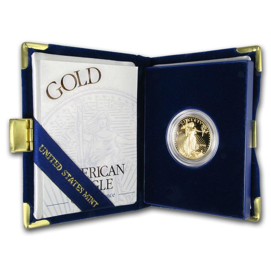 1996-W 1/2 oz Proof American Gold Eagle (w/Box & COA)