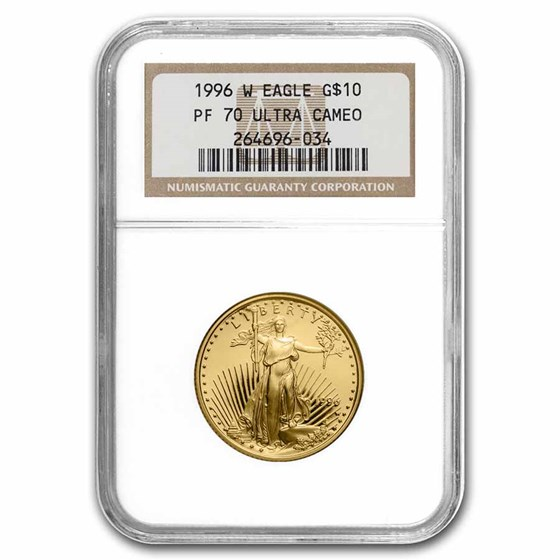 1996-W 1/4 oz Proof American Gold Eagle PF-70 UCAM NGC